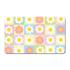 Season Flower Sunflower Blue Yellow Purple Pink Magnet (rectangular)