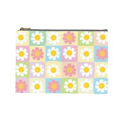 Season Flower Sunflower Blue Yellow Purple Pink Cosmetic Bag (large)