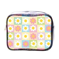 Season Flower Sunflower Blue Yellow Purple Pink Mini Toiletries Bags by Alisyart