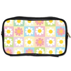Season Flower Sunflower Blue Yellow Purple Pink Toiletries Bags by Alisyart