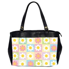 Season Flower Sunflower Blue Yellow Purple Pink Office Handbags (2 Sides)