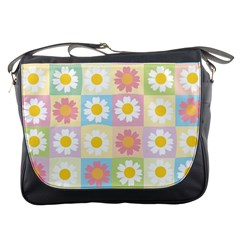 Season Flower Sunflower Blue Yellow Purple Pink Messenger Bags by Alisyart