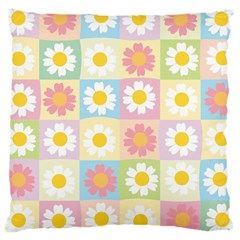 Season Flower Sunflower Blue Yellow Purple Pink Large Cushion Case (two Sides)