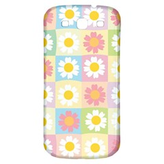 Season Flower Sunflower Blue Yellow Purple Pink Samsung Galaxy S3 S Iii Classic Hardshell Back Case