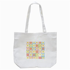 Season Flower Sunflower Blue Yellow Purple Pink Tote Bag (white) by Alisyart