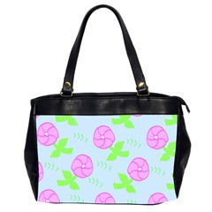 Spring Flower Tulip Floral Leaf Green Pink Office Handbags (2 Sides)  by Alisyart