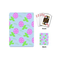 Spring Flower Tulip Floral Leaf Green Pink Playing Cards (mini)  by Alisyart
