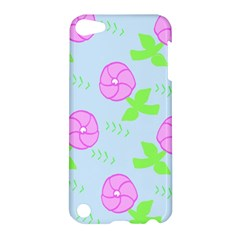 Spring Flower Tulip Floral Leaf Green Pink Apple Ipod Touch 5 Hardshell Case