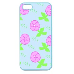 Spring Flower Tulip Floral Leaf Green Pink Apple Seamless Iphone 5 Case (color) by Alisyart