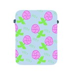 Spring Flower Tulip Floral Leaf Green Pink Apple iPad 2/3/4 Protective Soft Cases Front