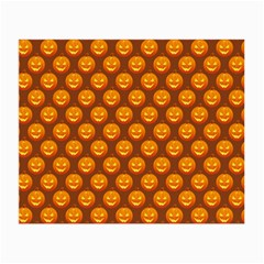 Pumpkin Face Mask Sinister Helloween Orange Small Glasses Cloth (2 Side) by Alisyart