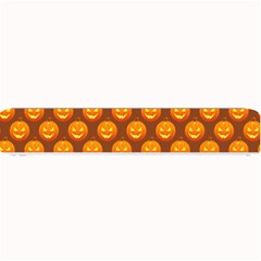 Pumpkin Face Mask Sinister Helloween Orange Small Bar Mats by Alisyart