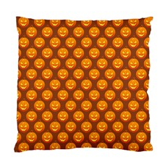 Pumpkin Face Mask Sinister Helloween Orange Standard Cushion Case (one Side) by Alisyart