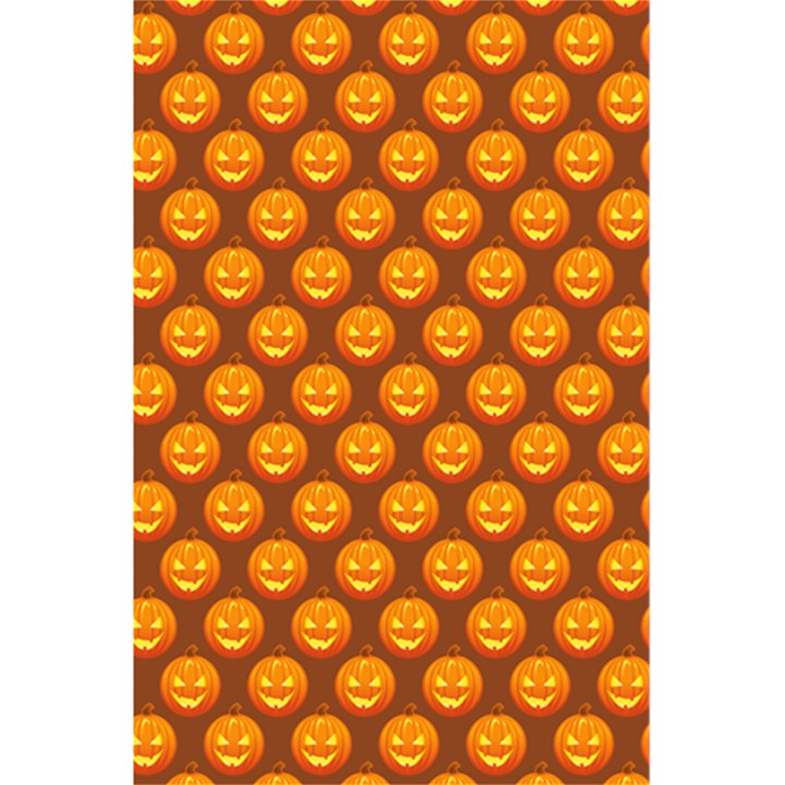 Pumpkin Face Mask Sinister Helloween Orange 5.5  x 8.5  Notebooks