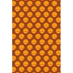 Pumpkin Face Mask Sinister Helloween Orange 5.5  x 8.5  Notebooks Back Cover Inside