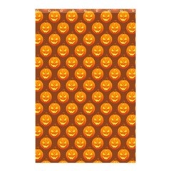 Pumpkin Face Mask Sinister Helloween Orange Shower Curtain 48  X 72  (small)  by Alisyart