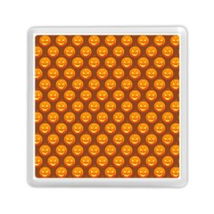 Pumpkin Face Mask Sinister Helloween Orange Memory Card Reader (square)