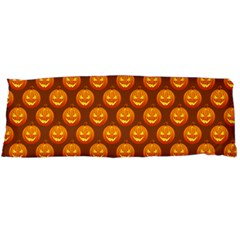 Pumpkin Face Mask Sinister Helloween Orange Body Pillow Case Dakimakura (two Sides) by Alisyart