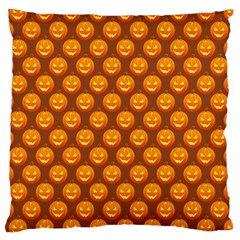 Pumpkin Face Mask Sinister Helloween Orange Large Cushion Case (two Sides) by Alisyart