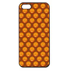Pumpkin Face Mask Sinister Helloween Orange Apple Iphone 5 Seamless Case (black) by Alisyart