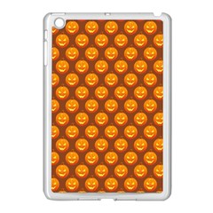 Pumpkin Face Mask Sinister Helloween Orange Apple Ipad Mini Case (white) by Alisyart