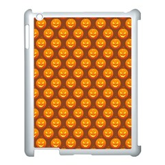 Pumpkin Face Mask Sinister Helloween Orange Apple Ipad 3/4 Case (white)