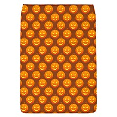 Pumpkin Face Mask Sinister Helloween Orange Flap Covers (l)  by Alisyart