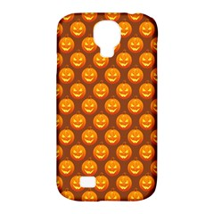 Pumpkin Face Mask Sinister Helloween Orange Samsung Galaxy S4 Classic Hardshell Case (pc+silicone) by Alisyart