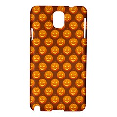 Pumpkin Face Mask Sinister Helloween Orange Samsung Galaxy Note 3 N9005 Hardshell Case by Alisyart