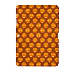 Pumpkin Face Mask Sinister Helloween Orange Samsung Galaxy Tab 2 (10 1 ) P5100 Hardshell Case  by Alisyart