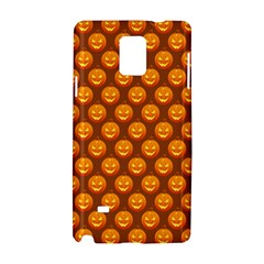 Pumpkin Face Mask Sinister Helloween Orange Samsung Galaxy Note 4 Hardshell Case