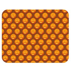 Pumpkin Face Mask Sinister Helloween Orange Double Sided Flano Blanket (medium)  by Alisyart