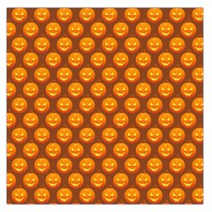 Pumpkin Face Mask Sinister Helloween Orange Large Satin Scarf (square) by Alisyart