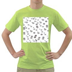 Flower Grey Jpeg Green T Shirt