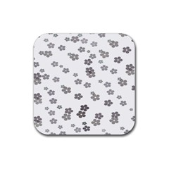 Flower Grey Jpeg Rubber Coaster (square)  by Alisyart