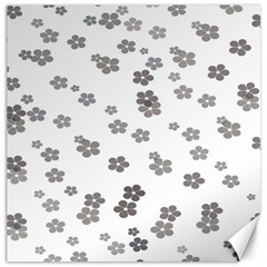 Flower Grey Jpeg Canvas 12  X 12