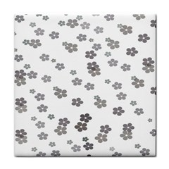 Flower Grey Jpeg Face Towel