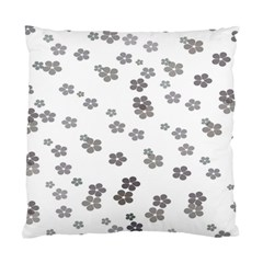 Flower Grey Jpeg Standard Cushion Case (one Side)