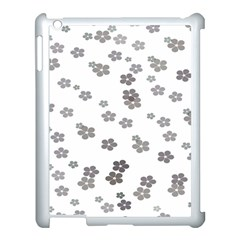 Flower Grey Jpeg Apple Ipad 3/4 Case (white)