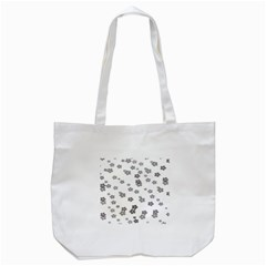 Flower Grey Jpeg Tote Bag (white)