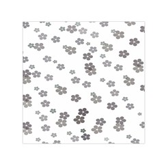 Flower Grey Jpeg Small Satin Scarf (square)