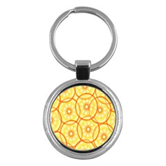 Lemons Orange Lime Circle Star Yellow Key Chains (round)  by Alisyart
