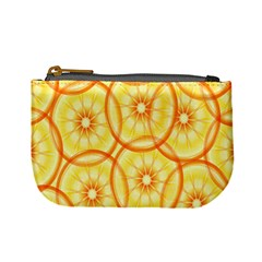 Lemons Orange Lime Circle Star Yellow Mini Coin Purses