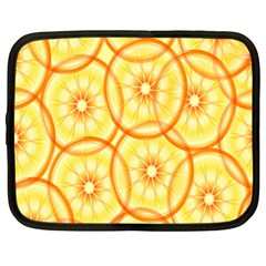 Lemons Orange Lime Circle Star Yellow Netbook Case (xl)  by Alisyart