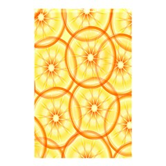 Lemons Orange Lime Circle Star Yellow Shower Curtain 48  X 72  (small)
