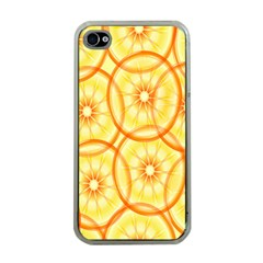 Lemons Orange Lime Circle Star Yellow Apple Iphone 4 Case (clear) by Alisyart
