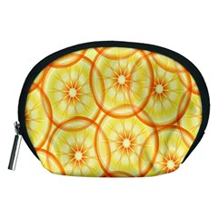 Lemons Orange Lime Circle Star Yellow Accessory Pouches (medium)
