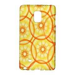 Lemons Orange Lime Circle Star Yellow Galaxy Note Edge by Alisyart