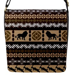 African Vector Patterns  Flap Messenger Bag (s)