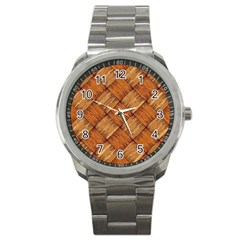 Vector Square Texture Pattern Sport Metal Watch by Amaryn4rt